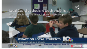 Roanoke Catholic excitement Pope Francis on WSLS