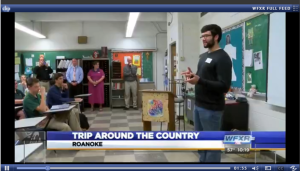 Luke Kubic at RCS on WFXR