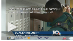 Roanoke Catholic dual enrollment on WSLS