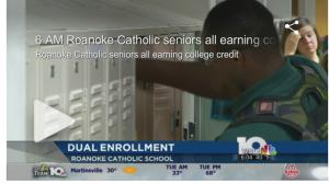 Roanoke Catholic dual enrollment on WSLS
