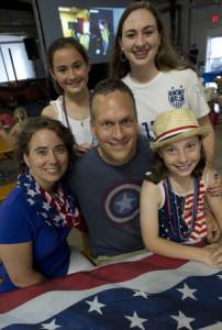 Roanoke Catholic family and Women's World Cup
