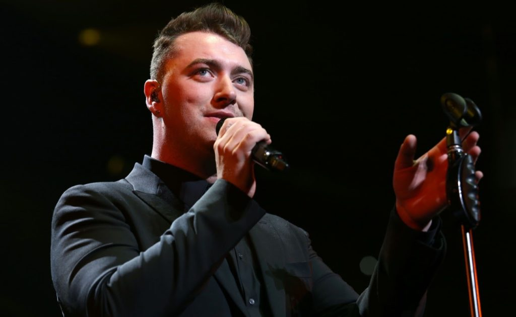Sam Smith performing at the Wells Fargo Center