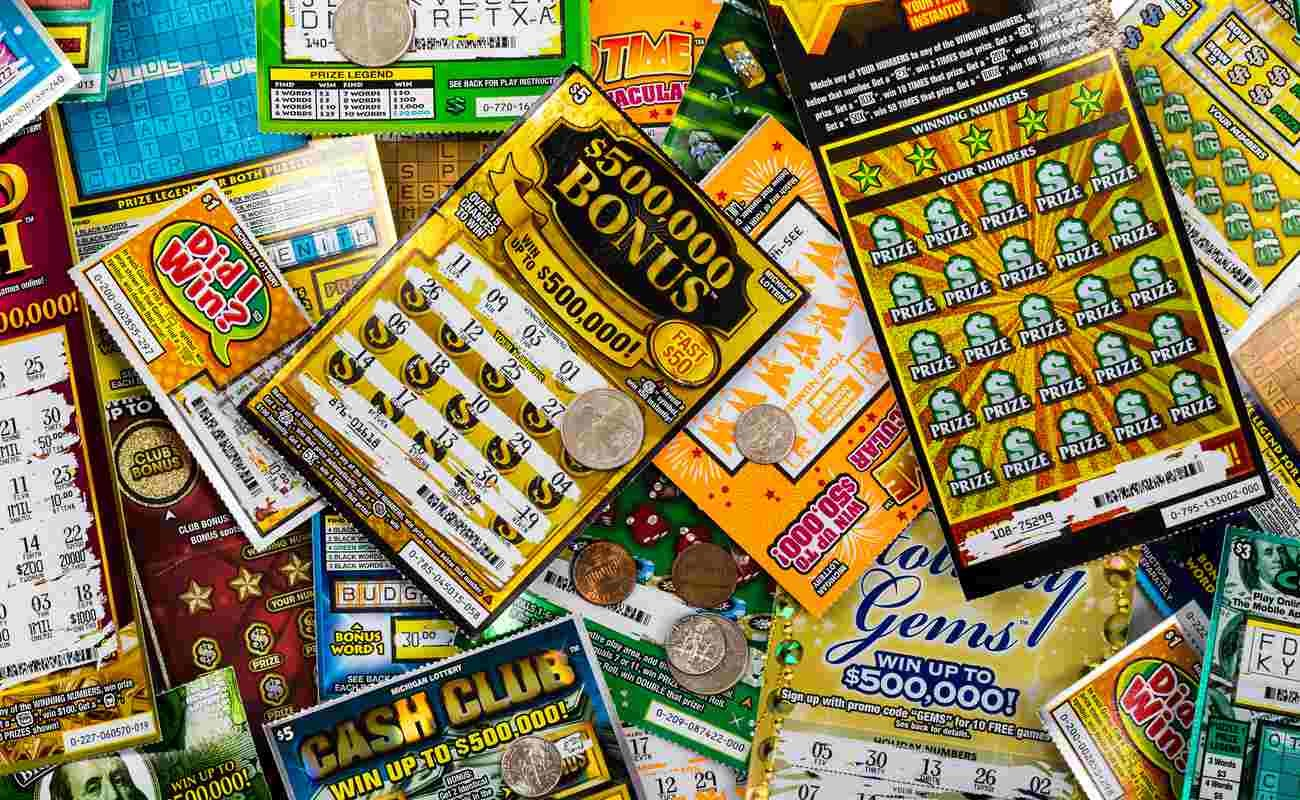 Used Michigan instant scratch games lottery tickets