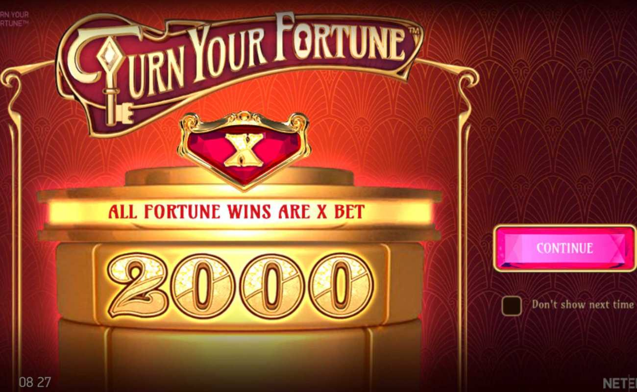 Turn Your Fortune online slot casino game page intro