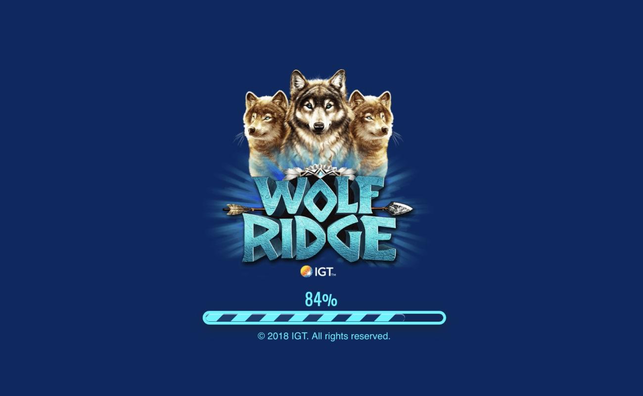 Wolf Ridge IGT online game blue background