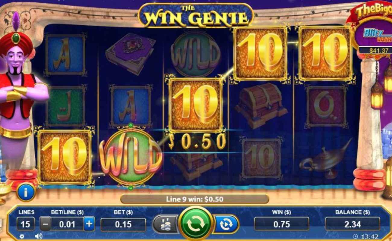 The Win Genie online slot casino game