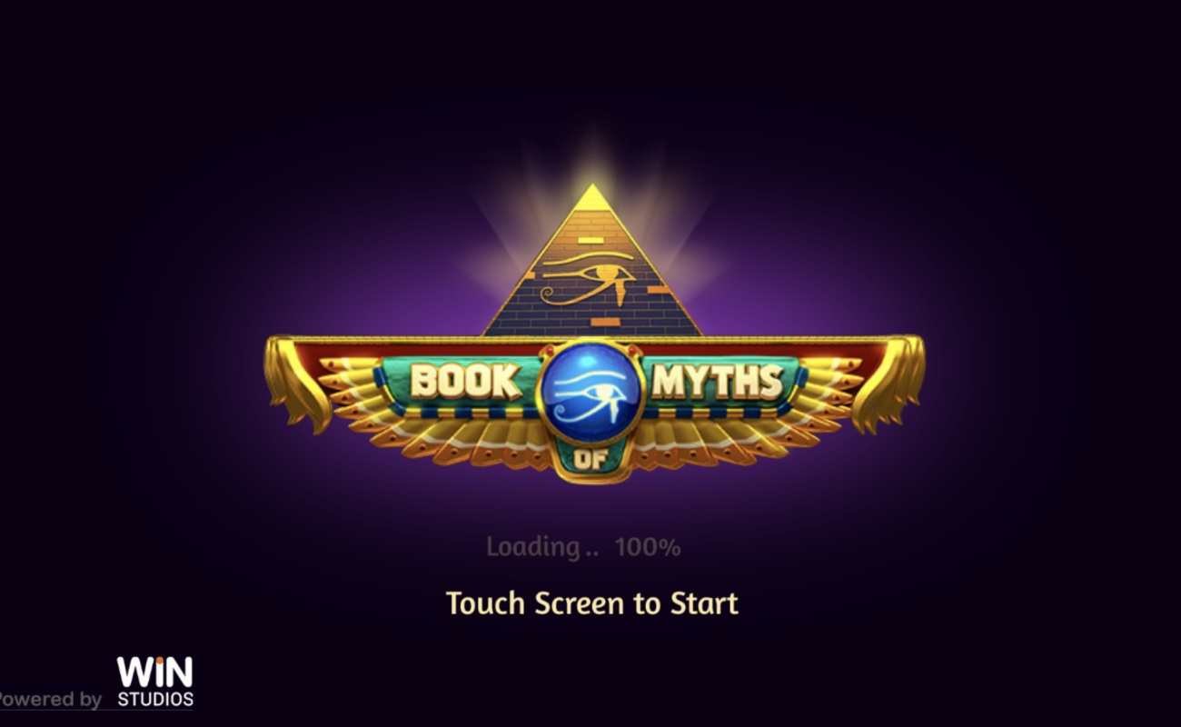 Book of Myth online slot casino game starting page