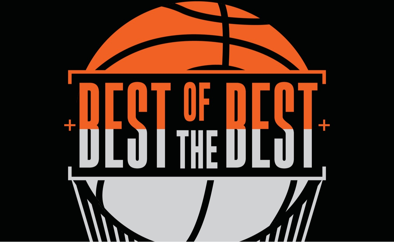 Best of the best, basketball sport, typography graphic design, vector illustration