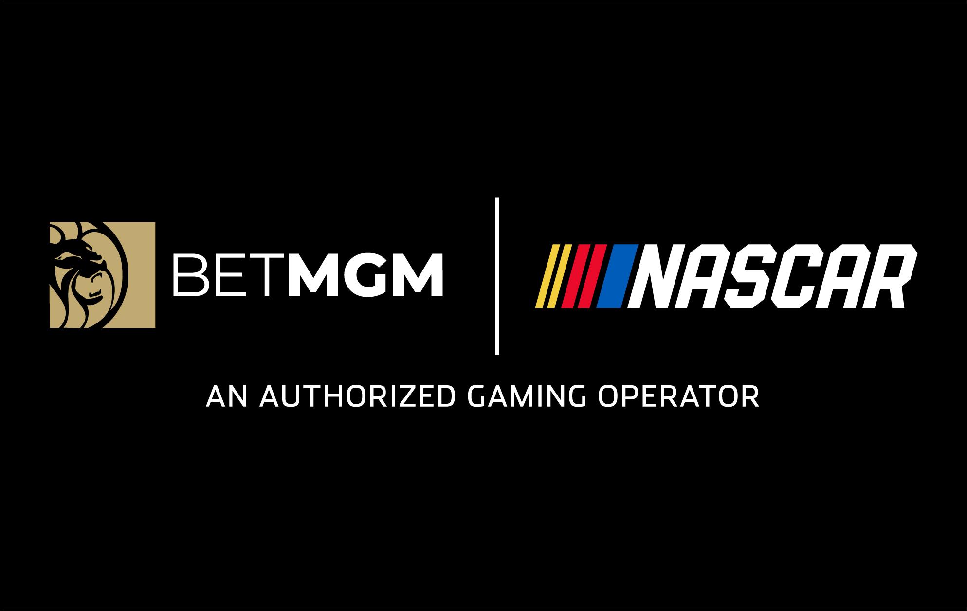 BetMGM logo next to Nascar logo