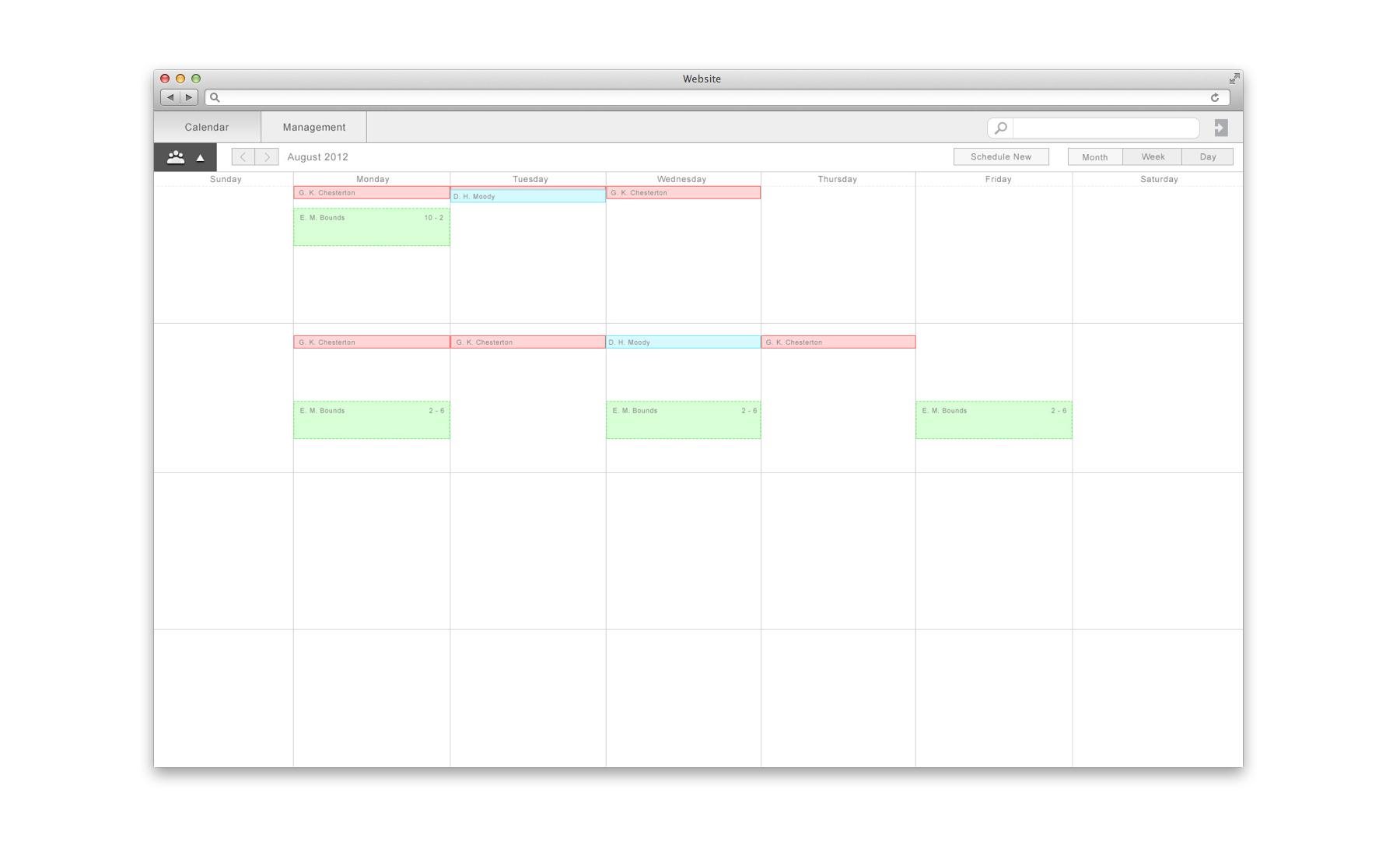 TimeFrame Full Calendar