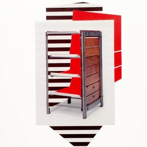 Sharon Lawless, Steel Box Red Shelves, 2015