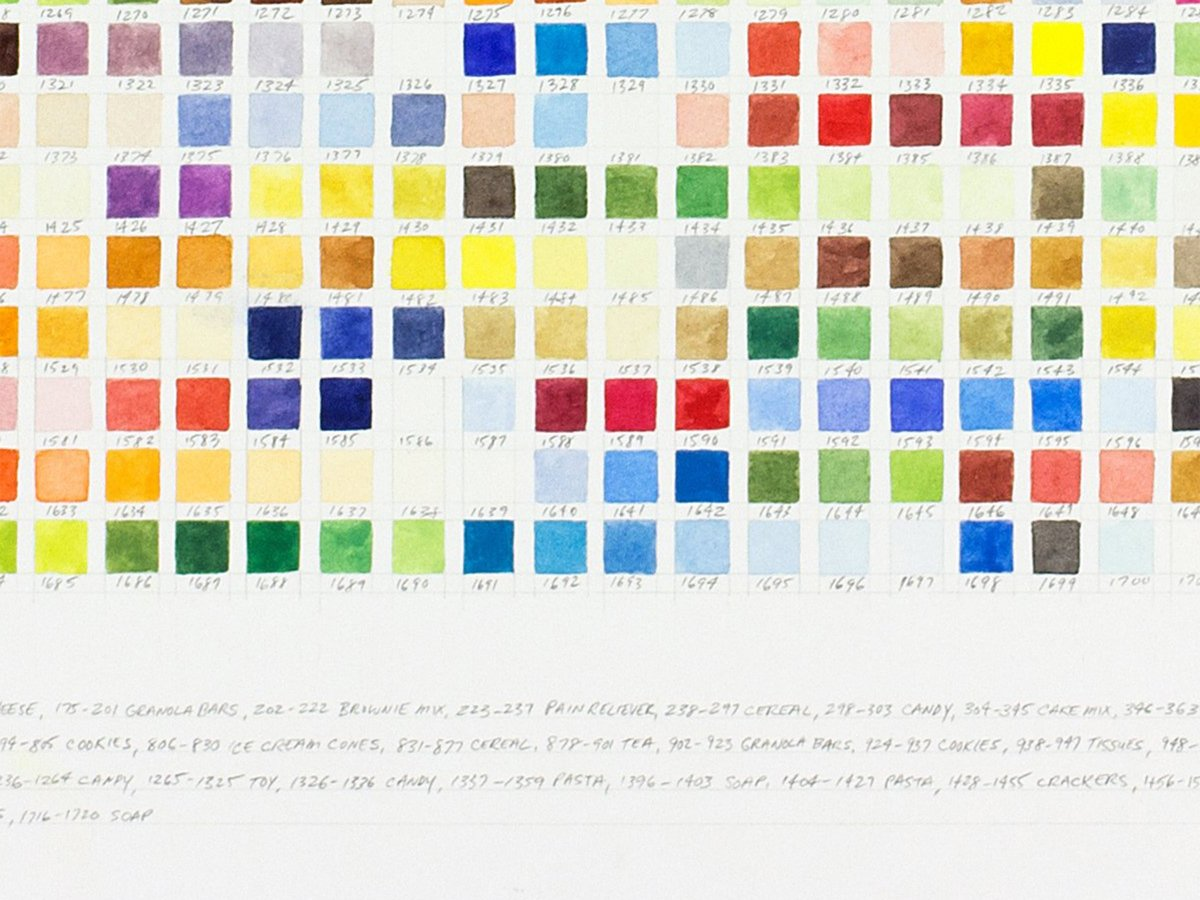 Richard Garrison, Product Packaging Color Match(Garrison Household, February-March 2015), 2015