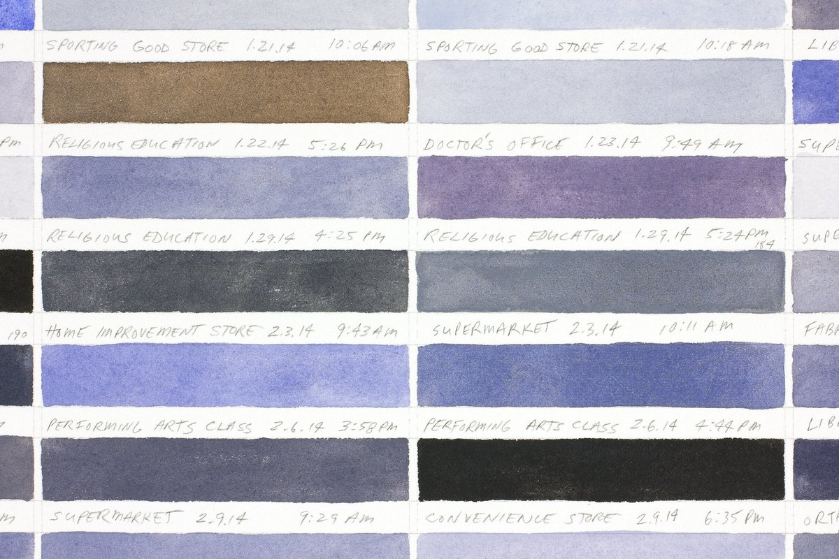 Richard Garrison, Parking Space Color Scheme (January  2 - May 13, 2014), 2017