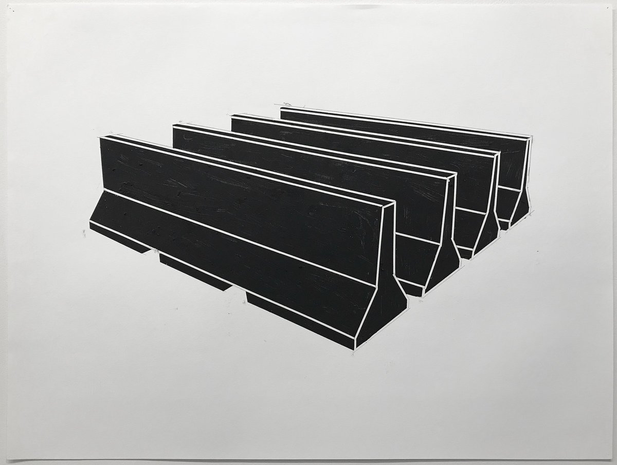 Noah Loesberg, Highway Barriers Study #2, 2018