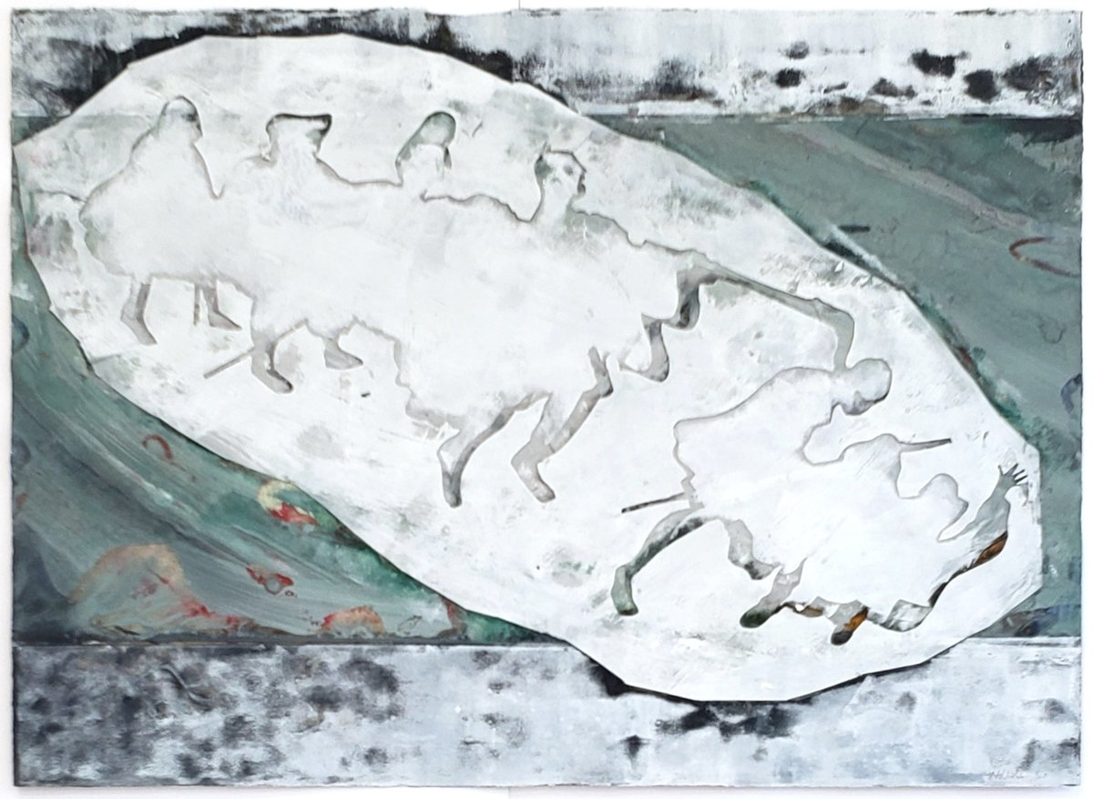Jerry Walden, Blind Leading the Blind (After Bruegel) IV, 1986