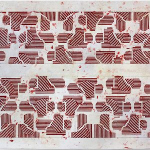 Noah Loesberg, Builder's Cross Section #2 (red), 2019