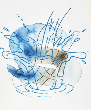 Sharon Lawless, Water Drawing 6, 2020