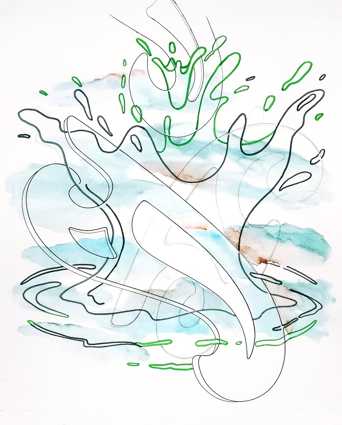 Sharon Lawless, Water Drawing 13, 2020