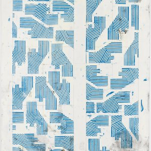 Noah Loesberg, Builder's Cross Section #1 (blue), 2019
