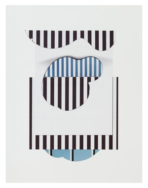 Sharon Lawless, Untitled with Blue Stripes, 2013