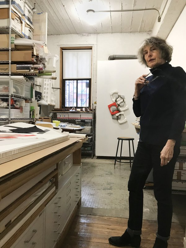 Sharon in her studio