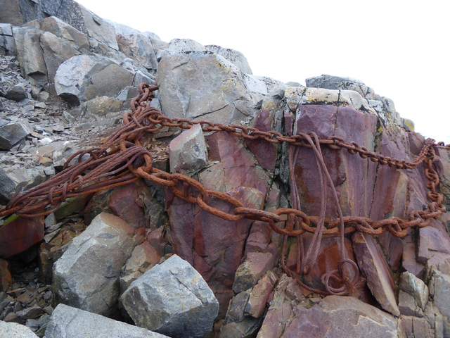 These chains were once used by whalers to moor their ships.