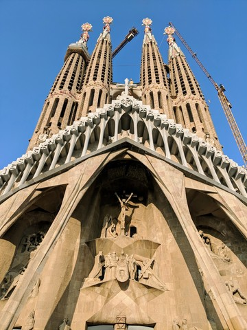 The other side of La Sagrada Familia
