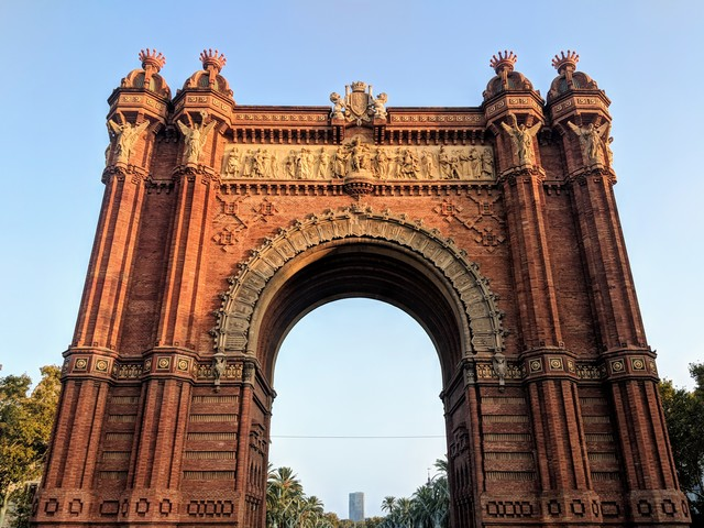 The Arc de Triomf. I love the red brick.