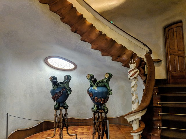 The staircase in Casa Batlló