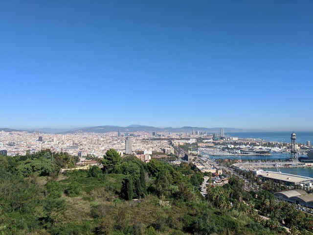 The view from Montjuïc hill