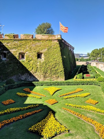 The battlements of Montjuïc castle