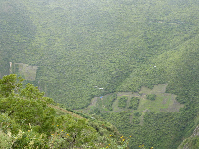 Some other terraces that are part of Choquequirao.