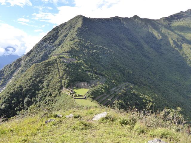 The classic Choquequirao photo, taken from the ritual grounds on the hill.