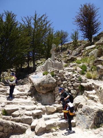 Stairs up to Cerro Calvario.