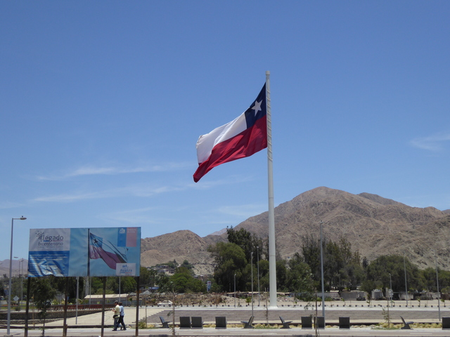 Massive Chilean flag!