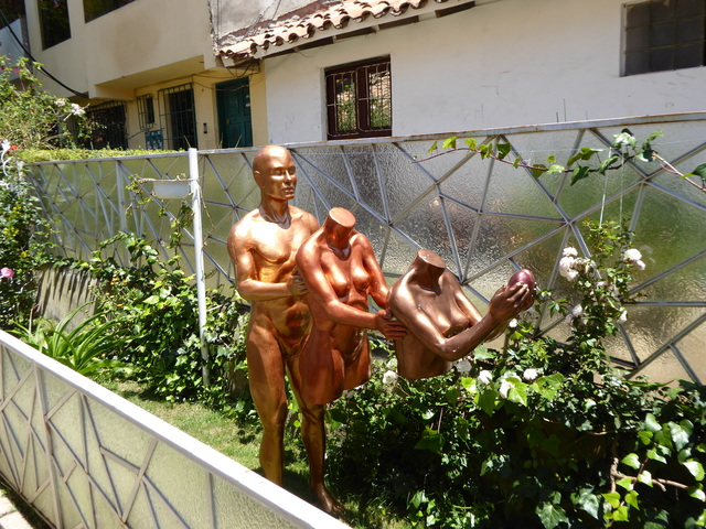 Interesting statue in front of Amigos Spanish School, where I took classes.