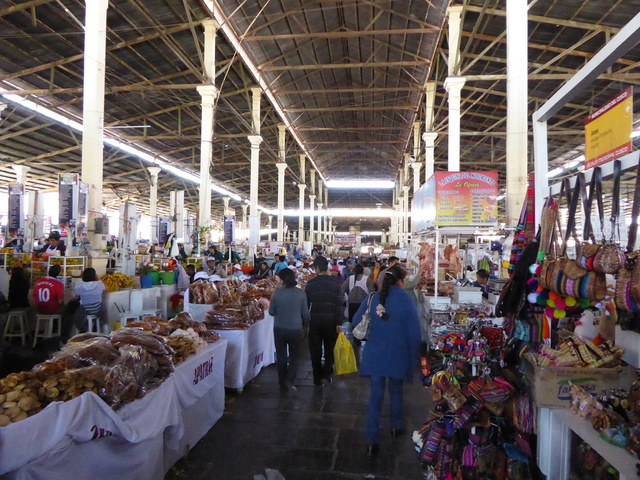 The local market, where you can buy everything from bread and meat to handicrafts and lunch.