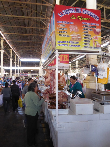Just like in Asia, meat hangs in the open air all day, and yet, people aren't getting food poisoning right and left.