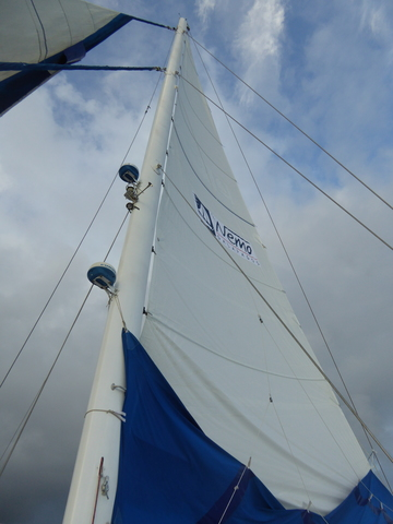 The only time they hoisted the sails on the Nemo, the boat I spent eight days on.