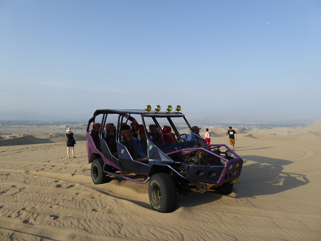 Our sweet dune buggy. It has a Toyota steering column and an old v8 engine, what a frankenstein!