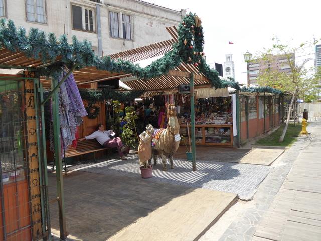 A small market near the main square.