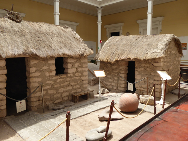 Traditional Aymara buildings at the local museum.