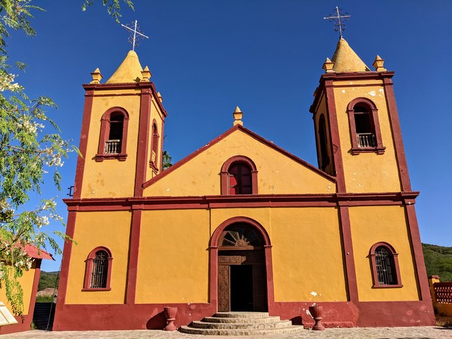Church in the old mining town if El Triunfo