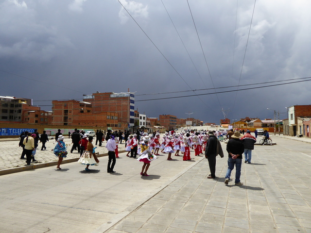 This is actually El Alto, which is a suburb of La Paz. Not sure what they parade was for, but it was cool!