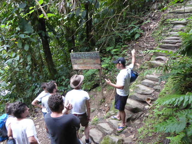 Our guide telling us a bit about the site before we ascend the 1,200 steep stairs to get there.