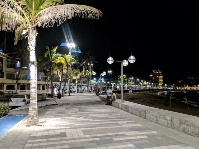 The Malecón at night