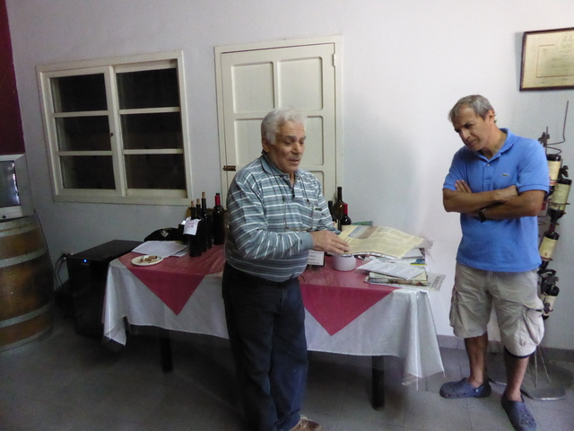 This guy talked about wine and gave us 3 tastings of really good 10 year old wines for free!