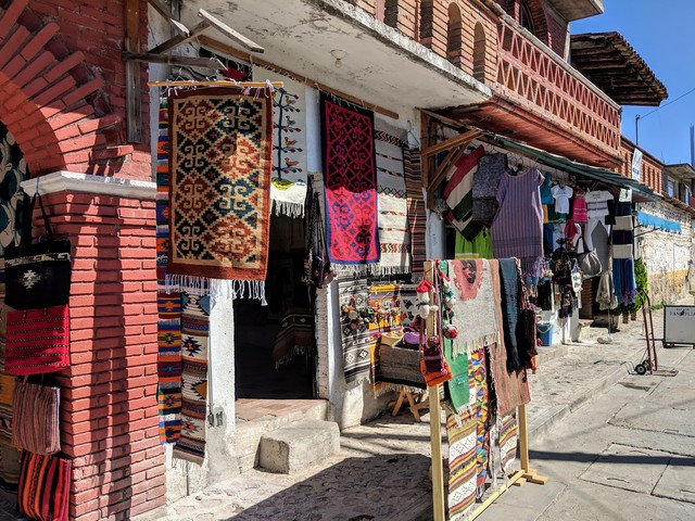 Shops in Teotitlan, a very cute village outside Oaxaca city.