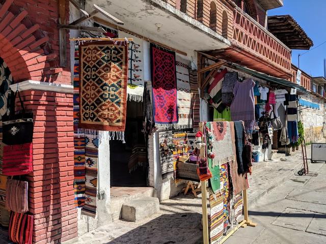 Shops in Teotitlan, a very cute village outside Oaxaca city.