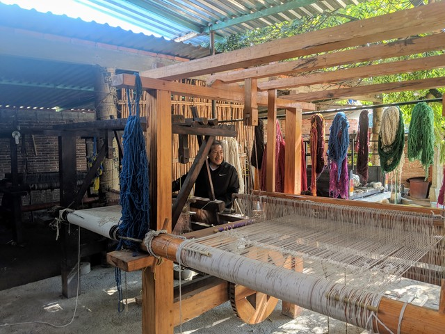 Working the loom
